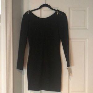 Long sleeve mini dress scoop back